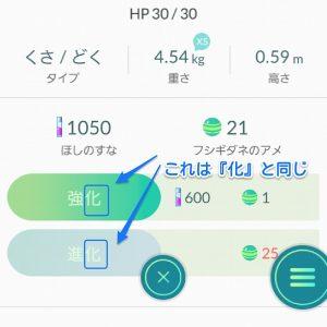 ポケモンGOの中の日本語フォント