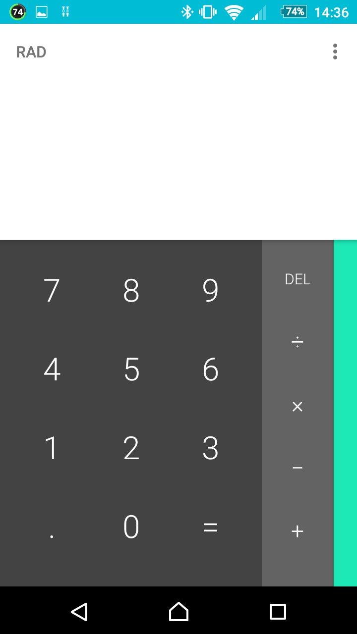 Google製の電卓アプリ