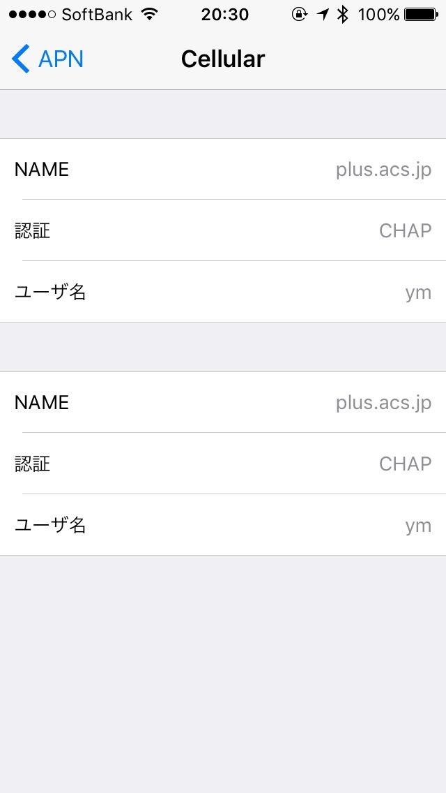 SIM単体契約iPhone用APNの中身