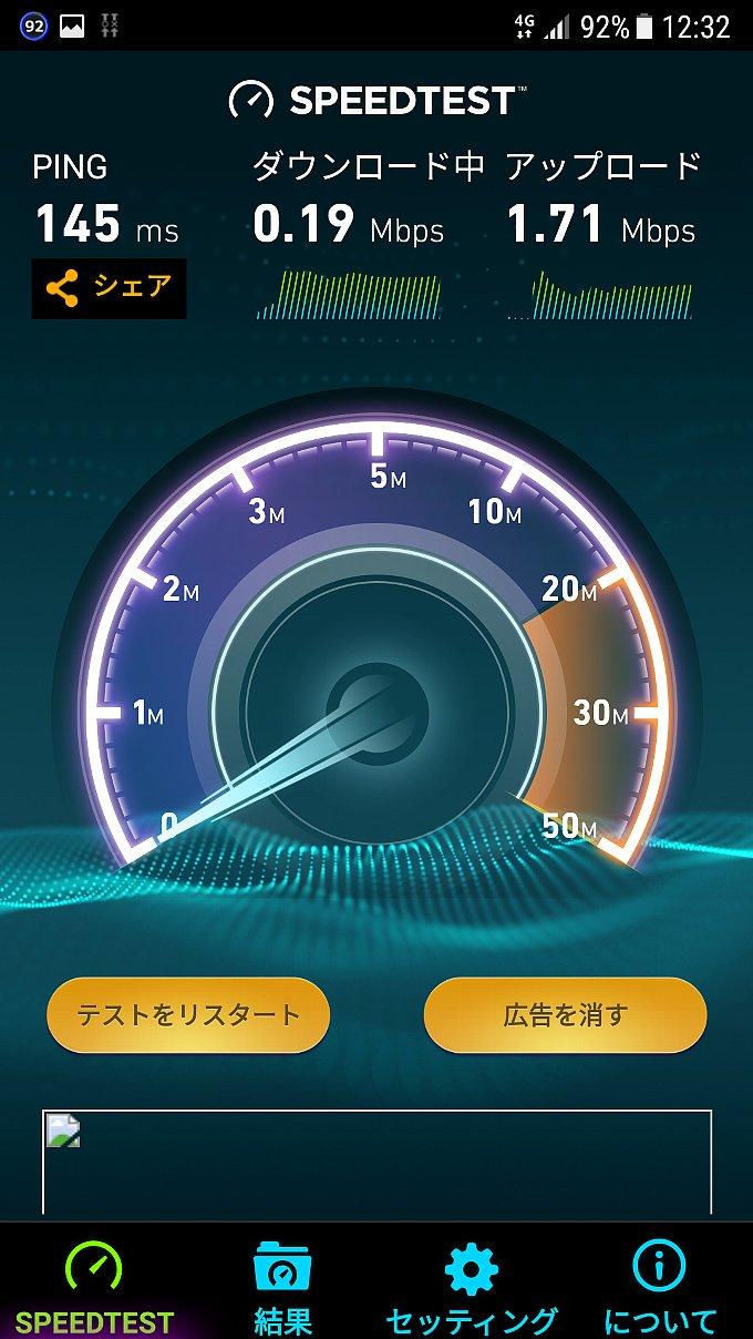 0 SIM計測時の速度変化