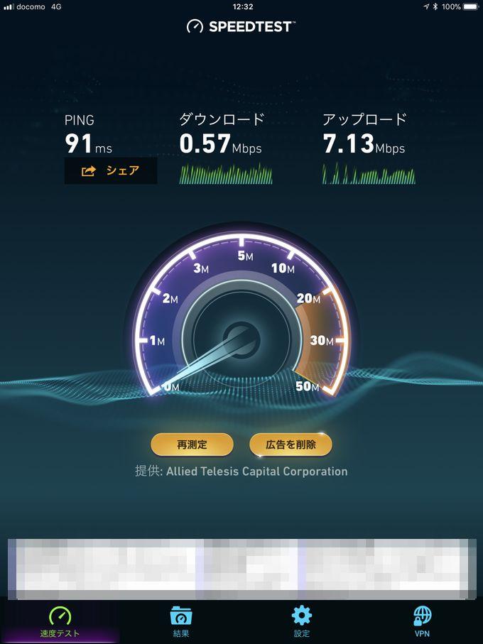 0 SIMスピードテスト時の速度変化