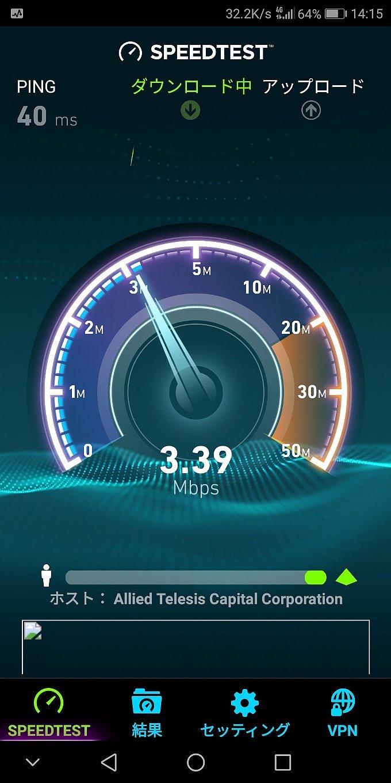 低速モード時の下りは最初だけ高速で通信する