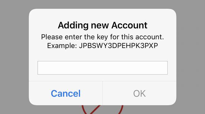 上記の文字列をAuthyアプリに手入力するのは大変