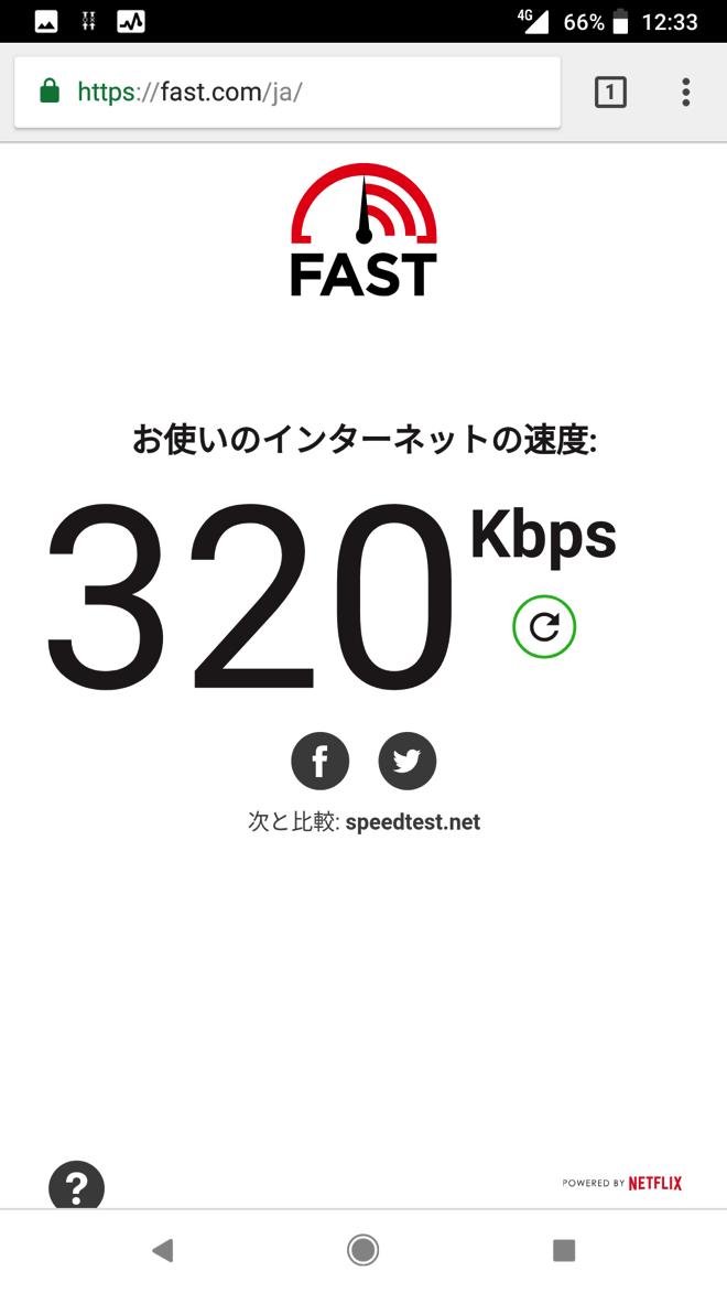 nuroモバイル(ソフトバンク回線)