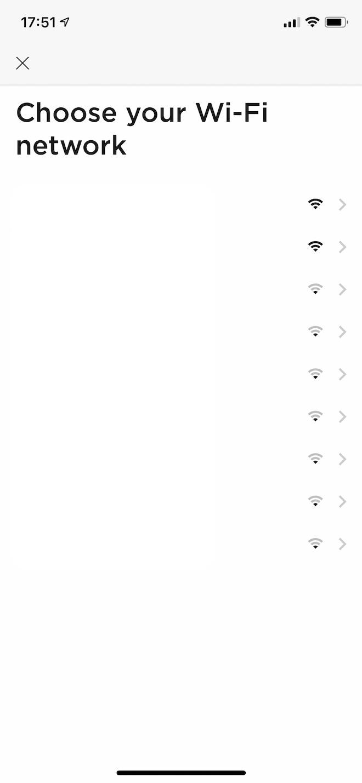 Wi-Fiのアクセスポイントが一覧表示されます